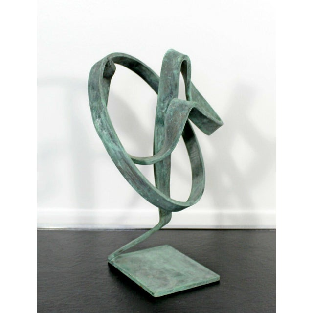 Contemporary Forged Painted Copper Abstract Table Sculpture by Robert Hansen For Sale - Image 4 of 6