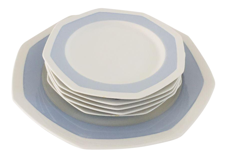 Vintage Mikasa Porcelain Sky Blue u0026 White Plates - Set of 6  sc 1 st  Chairish & Vintage Mikasa Porcelain Sky Blue u0026 White Plates - Set of 6 | Chairish