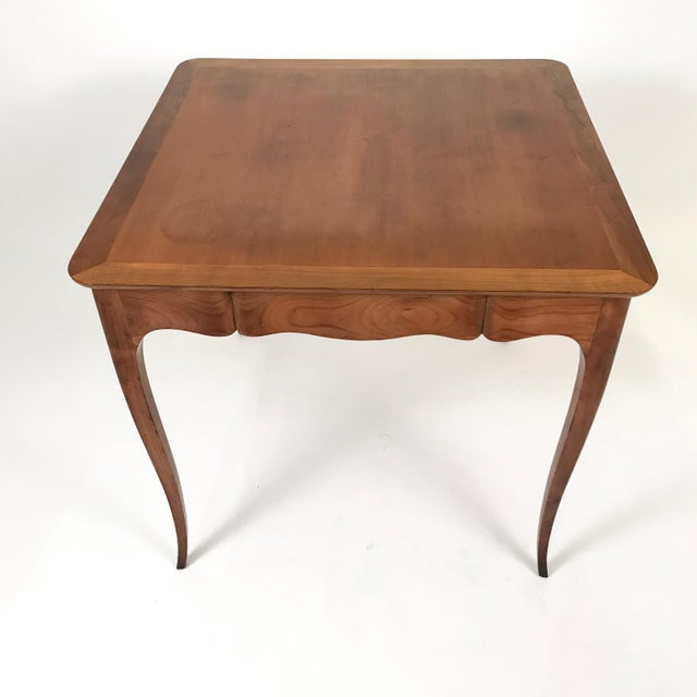 Maison Carlhian Two-Sided 1940s Fruitwood Carlhian Paris Decorative French Writing or Game Table For Sale - Image 4 of 10