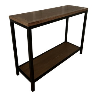 Wood and Metal Console Table For Sale