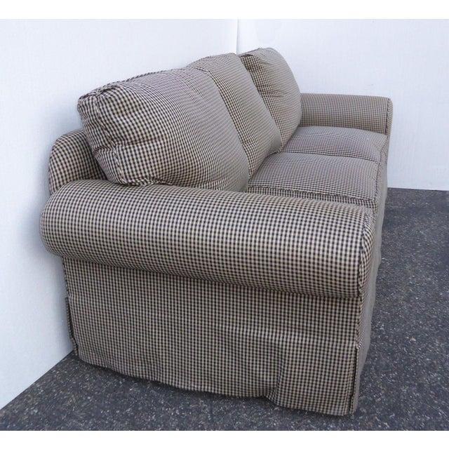 Glabman Furniture Plaid 3 Seater Sofa - Image 9 of 11