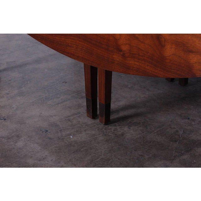 Walnut Drop-Leaf Console Table by Edward Wormley for Dunbar For Sale - Image 9 of 11