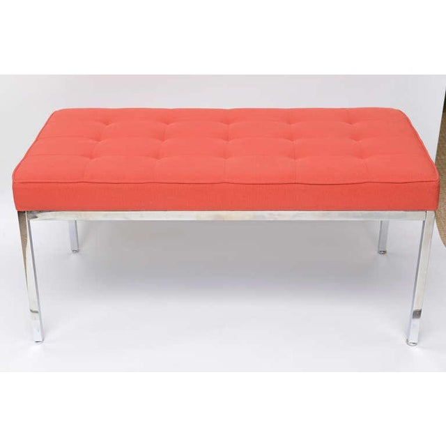Florence Knoll Stainless Steel Bench - Image 9 of 9