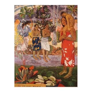 """1950s Paul Gauguin, First Edition """"La Orana Maria"""" Lithograph For Sale"""