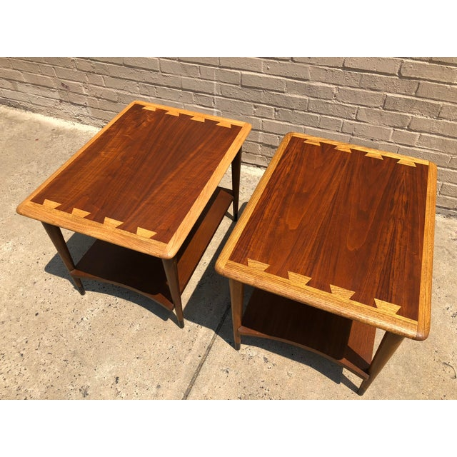 Mid-Century Modern 1950s Mid-Century Modern Lane Furniture Acclaim Dovetail End Tables - a Pair For Sale - Image 3 of 9