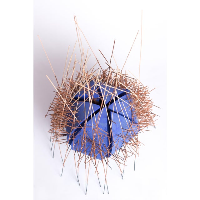 Mid 20th Century 20th Century Irving Harper Kinetic Round Blue Geometric Sculpture For Sale - Image 5 of 7