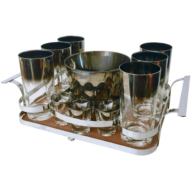 14-Piece Silver Ombre Cocktail Set - Image 1 of 5