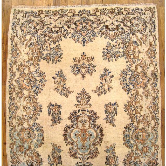 1940s Vintage Persian Kerman Oriental Rug - 4′ × 6′4″ For Sale - Image 4 of 5