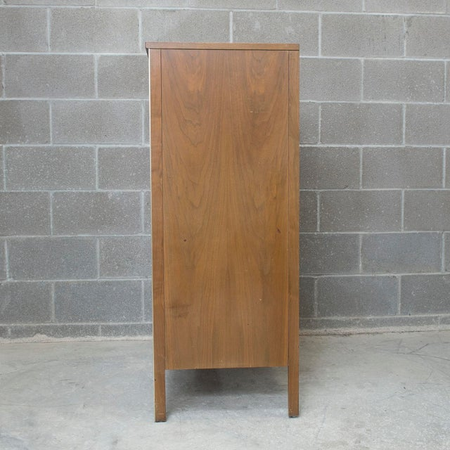 Paul McCobb for Calvin Walnut and Brass Chest of Drawers or Highboy - Image 4 of 4