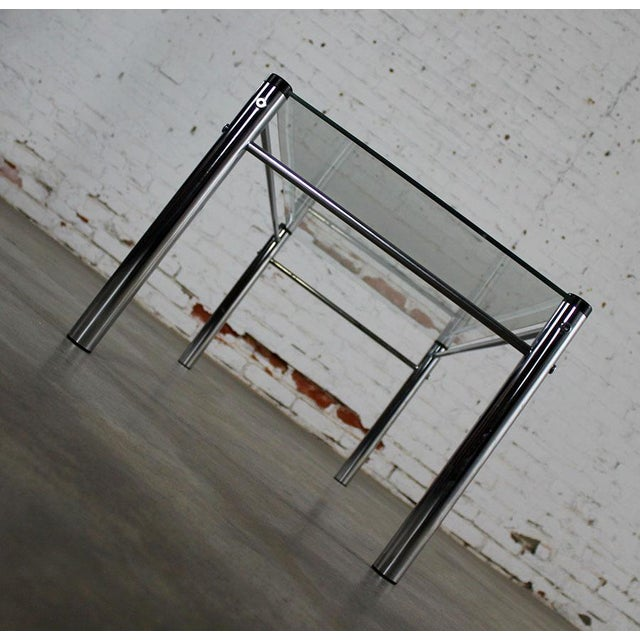 James David Furniture Attributed Chrome & Glass Coffee Table - Image 8 of 12