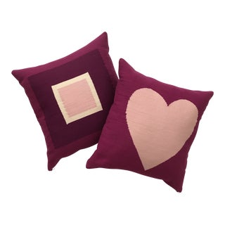 Boho Chic Jonathan Adler Mod Throw Pillows - a Pair