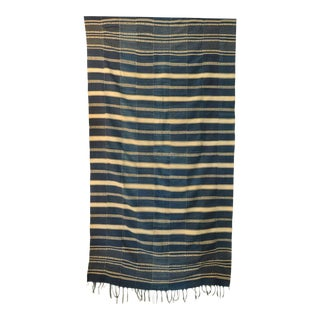 Museum Quality West African Indigo Textile For Sale