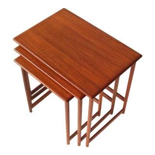 Rasmus Solberg Teak Nesting Tables - Set of 3 For Sale