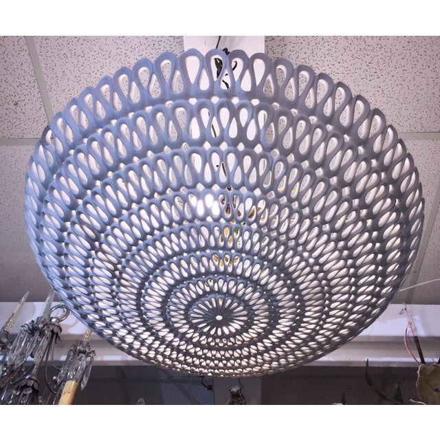 "Brass 1970s Contemporary Oly Studio ""Pipa"" Bowl Chandelier For Sale - Image 7 of 11"