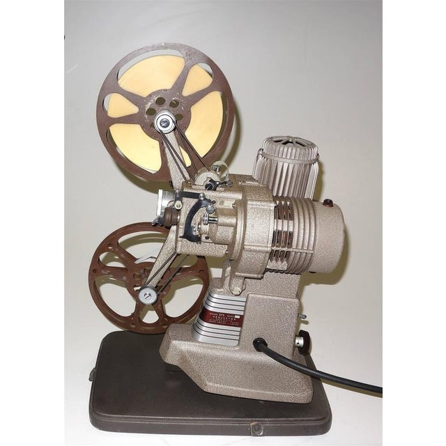 Metal 16mm Vintage Movie Projector Circa 1940. Rare Sculpture Piece For Media Room Display. For Sale - Image 7 of 8