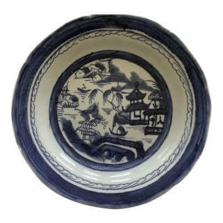 Antique 1800's Chinese Canton Rimmed Bowl For Sale
