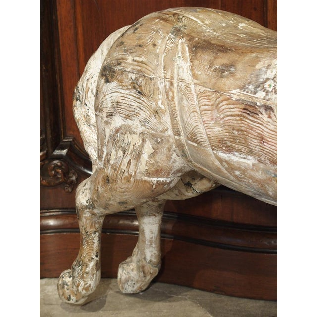 Antique Whitewashed Carousel Horse From Spain, Circa 1915 For Sale - Image 10 of 13