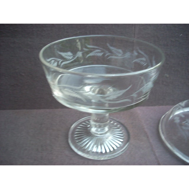 Traditional Traditional Covered Glass Compote For Sale - Image 3 of 4