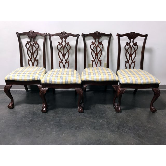 Lexington Chippendale Mahogany Ball Claw Dining Chairs- Set of 4 - Image 10 of 11