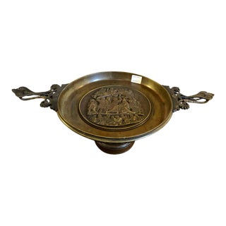 Repousse Bronze Greek or Roman Card Receiver For Sale