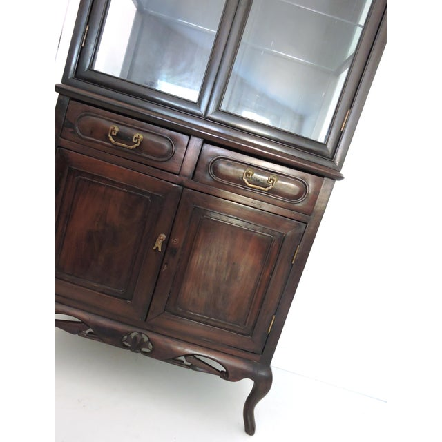 Asian Antique Chinese Blackwood Display China Cabinet/Cupboard/Hutch For Sale - Image 3 of 7