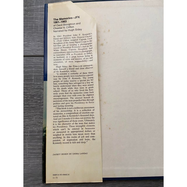 """Vintage 1973 """"The Memories: Jfk, 1961-1963"""" 1st Edition Hardcover Book For Sale - Image 4 of 13"""
