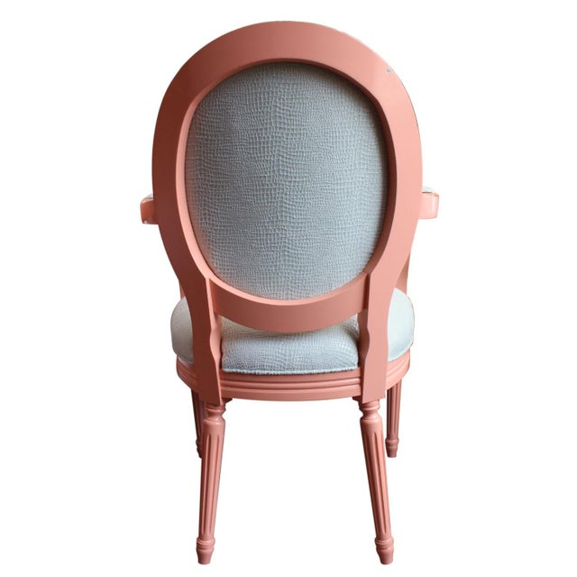 Vintage Painted Louis XVI Style Arm Chairs, Pair For Sale - Image 10 of 11