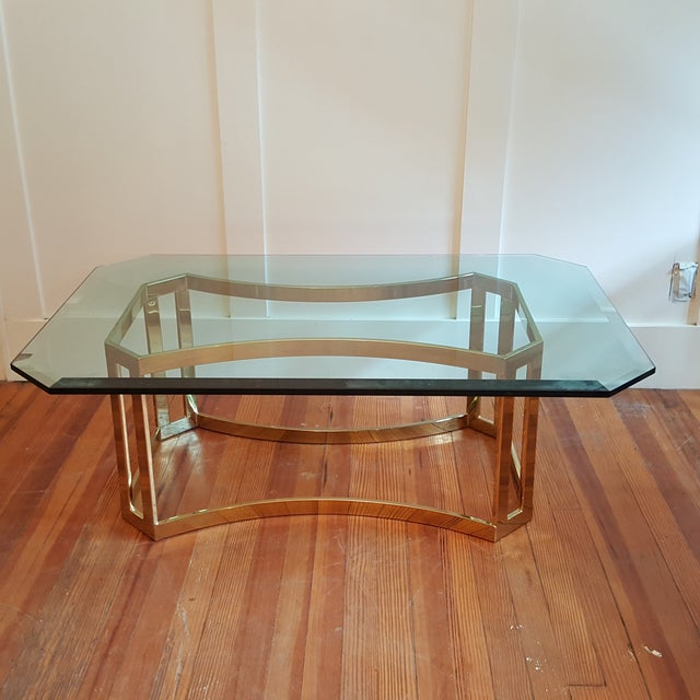 Milo Baughman Style Coffee Table - Image 2 of 5