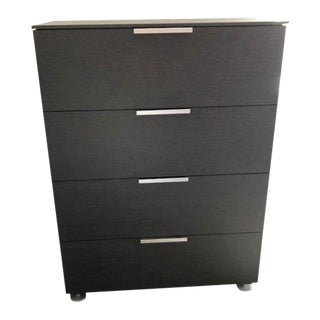 "Ligne Roset 4-Drawer ""Everywhere"" Ebony Oak Dresser For Sale"