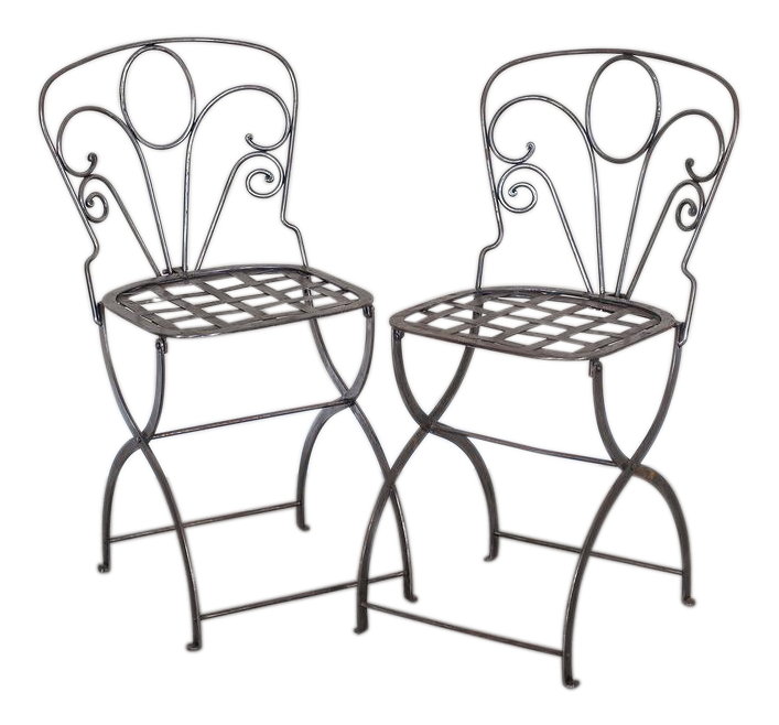 superb pair vintage french folding steel garden chairs circa 1940 International Events in the 1970s pair vintage french folding steel garden chairs circa 1940 4951 aspect fit height 1600 width 1600