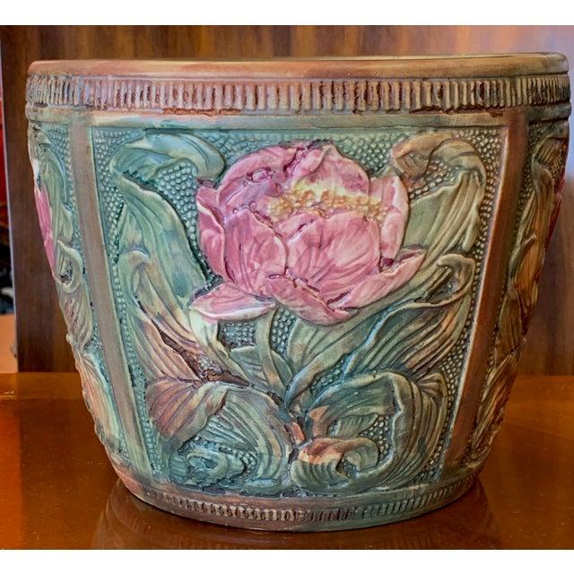 Weller Pottery Weller Flemish Ceramic Cachepot For Sale - Image 4 of 9