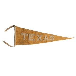 Antique Texas Felt Flag Pennant