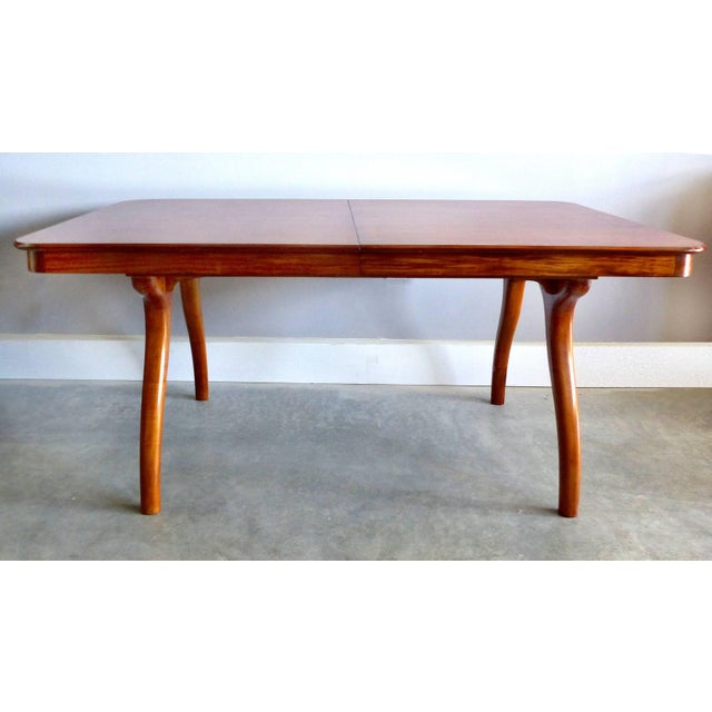 Giuseppe Scapinelli Giuseppe Scapinelli De Rosa Wood Dining Table and Chairs Circa 1960 For Sale - Image 4 of 11