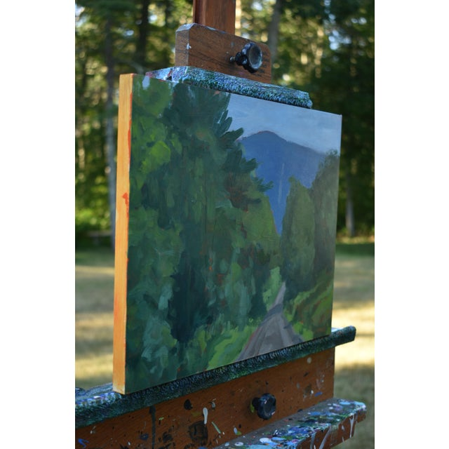"""Stephen Remick """"Vermont Gravel Road With Blue Mountain"""" Contemporary 2010s Landscape Painting For Sale In Providence - Image 6 of 10"""