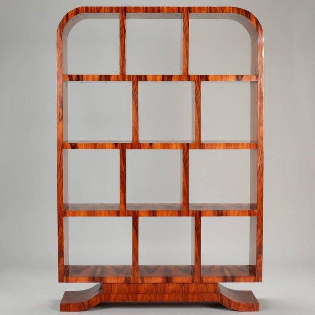 1940s Vintage French Art Deco Style Burl Wood Étagère For Sale - Image 4 of 9