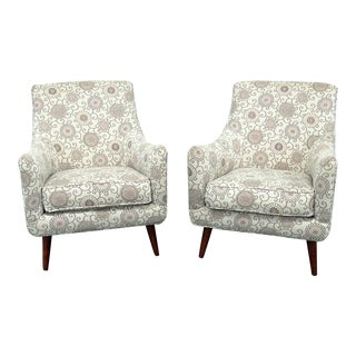 Rowe Mid-Century Modern Style Club Chairs - a Pair For Sale