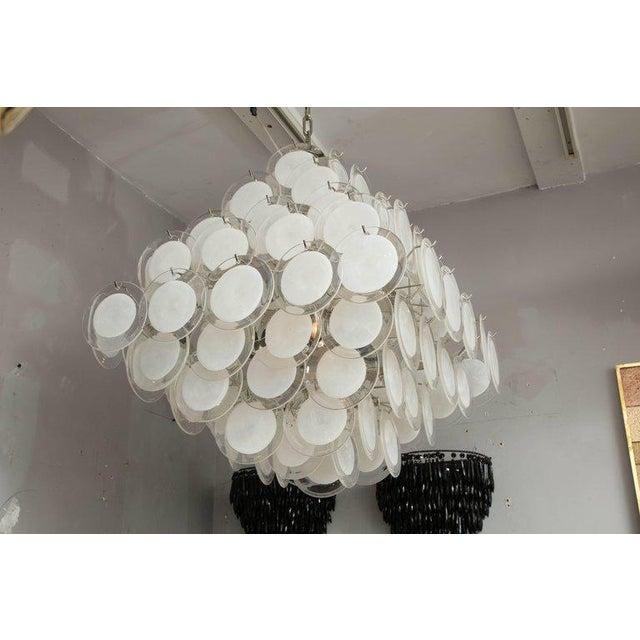 Murano glass disc chandelier.