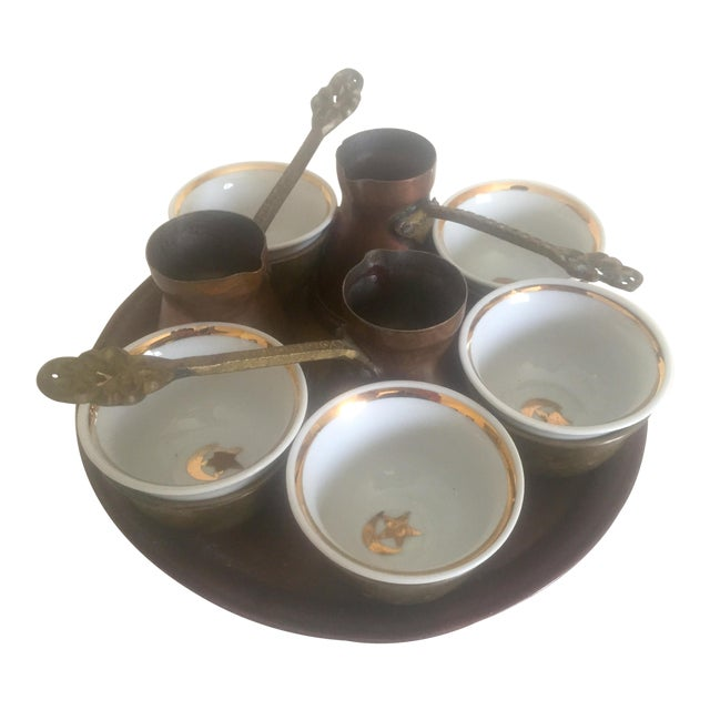 Turkish Bohemian Handmade Coffee Service - Image 1 of 10