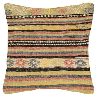 "Nalbandian - 1960s Turkish Kilim Pillow - 20"" X 20"" For Sale"