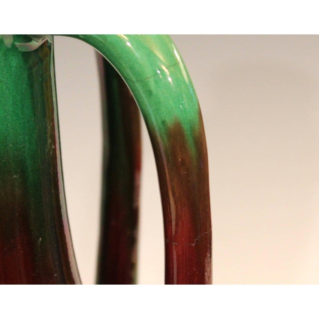 Ceramic Pair of Art Nouveau Japanese Awaji Pottery Organic Gourd Form Tendril Vases For Sale - Image 7 of 10