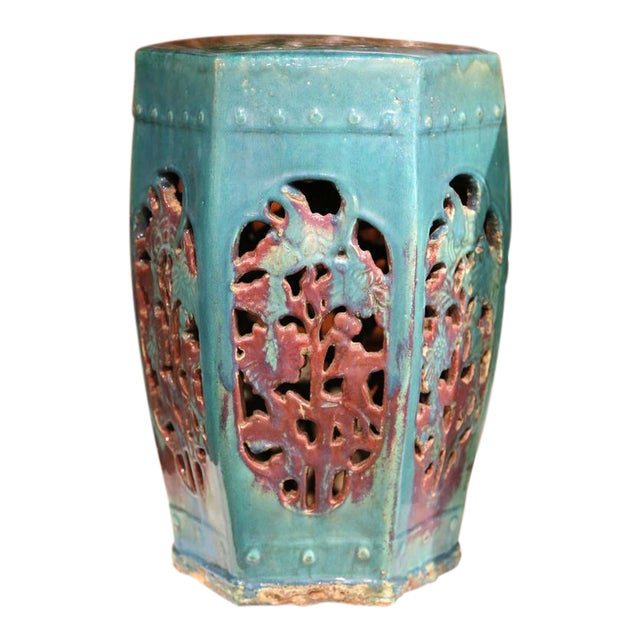 Early 20th Century Asian Green Porcelain Garden Stools - A Pair - Image 1 of 7