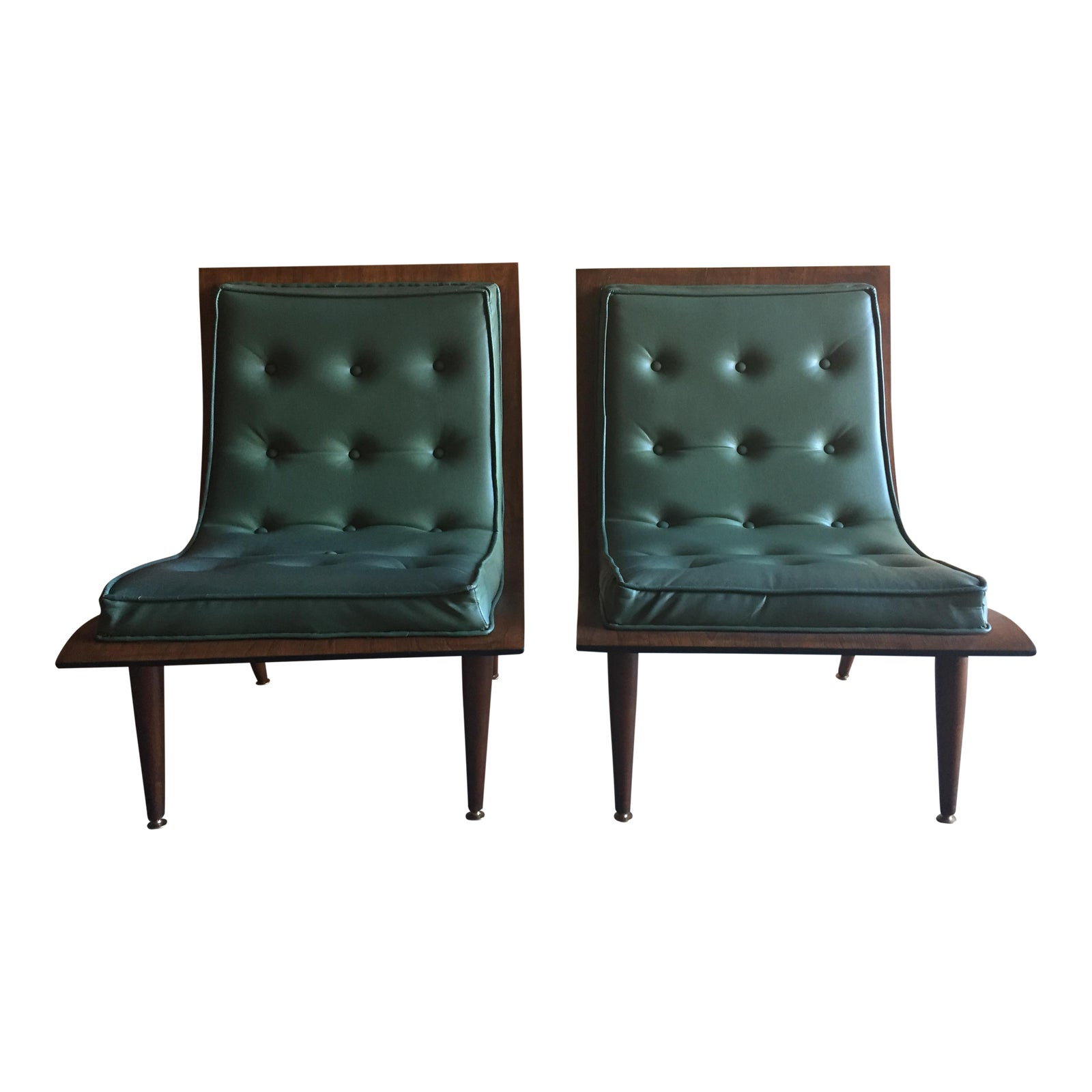 Carter Brothers Mid Century Modern Bentwood Scoop Chairs  A Pair