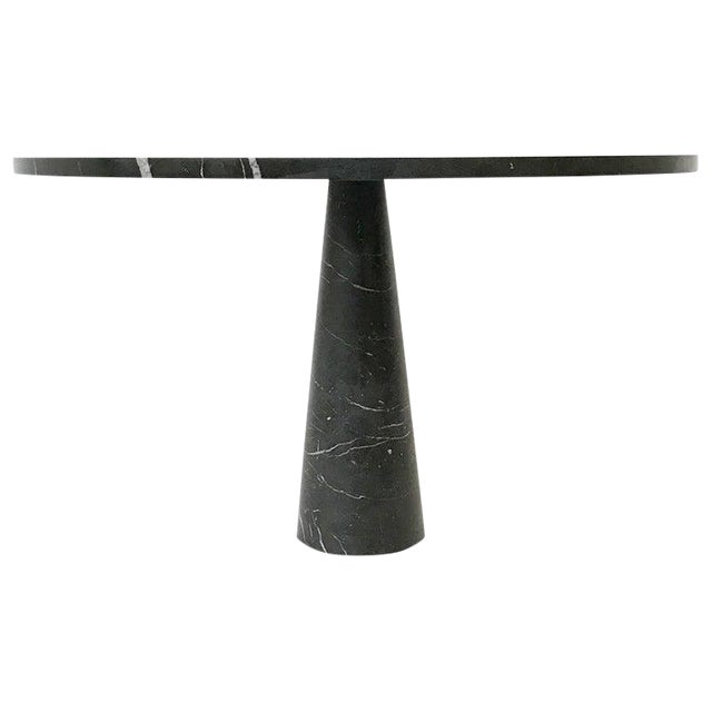 Dining Table in Black Marble Model 'Eros' by Angelo Mangiarotti, Italy, 1970s For Sale