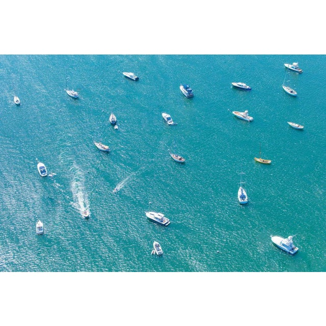 """Gorgeous aerial photograph by famed photographer Gray Malin. """"Nantucket Harbor"""" from his """"A la Plage"""" collection. Signed..."""