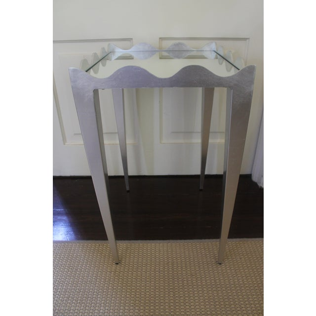 Worlds Away Wave Edge Side Table For Sale - Image 9 of 10