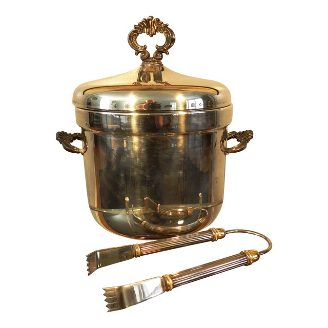 Vintage FB Rogers Silver Co. Ice Bucket W/ Tongs - Image 1 of 6