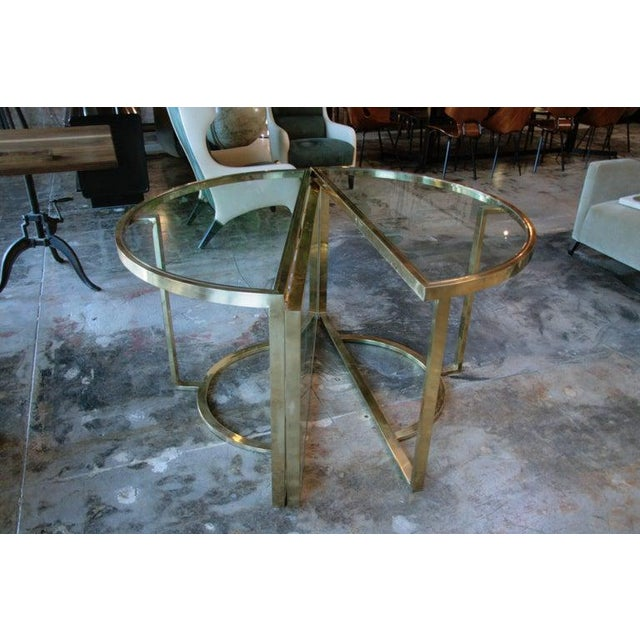 1970s 1970 Romeo Rega Brass Oval or Round Dining Table For Sale - Image 5 of 9