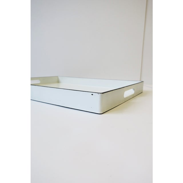 White White and Black Lacquer Serving Tray For Sale - Image 8 of 13