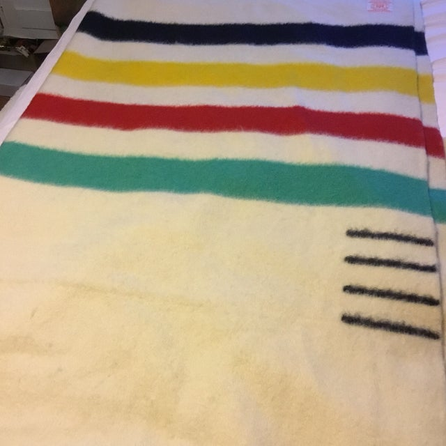 Rustic Hudson's Bay Point Blanket For Sale - Image 3 of 8