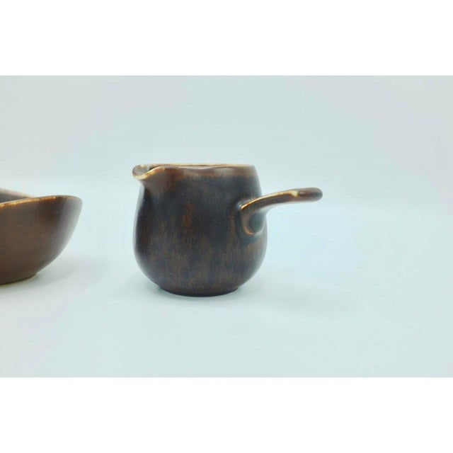 Country Gunnar Nylund Ceramic Creamer and Bowl - Set of 2 For Sale - Image 3 of 5